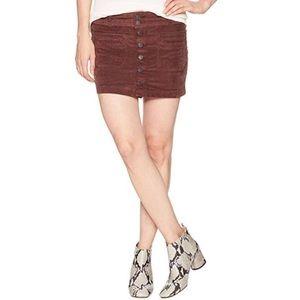 NWT We The Free Joanie Corduroy Mini Skirt